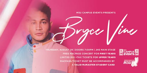 Welcome Week MacPass Concert  - Bryce Vine