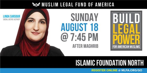 Build Legal Power for American Muslims with Linda Sarsour - Libertyville, IL