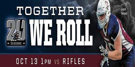 Regina Thunder VS Winnipeg Rifles