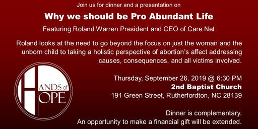 Pro-Abundant Life Banquet