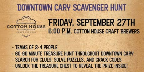 Downtown Cary Treasure Hunt - Cotton House Craft Brewers tickets