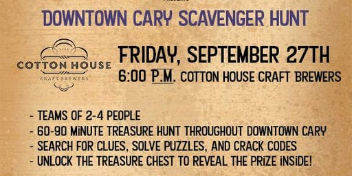 Downtown Cary Treasure Hunt - Cotton House Craft Brewers