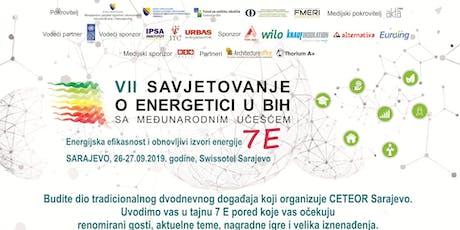 VII Savjetovanje o energetici u BiH 7E tickets