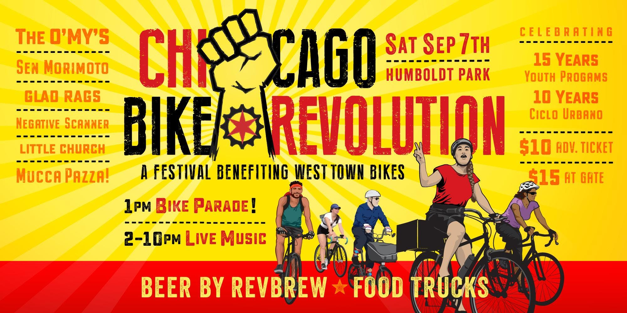 Chicago Bike Revolution with The O'My's / Sen Morimoto / Glad Rags + more