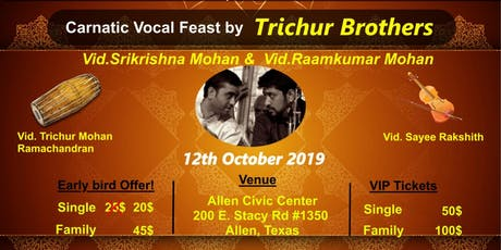 Carnatic Musical Feast by Trichur Brothers tickets