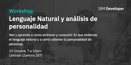 Lenguaje natural y análisis de la personalidad entradas