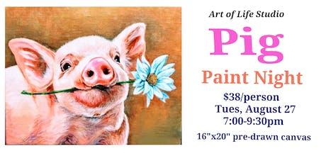 Paint Night: Pig tickets