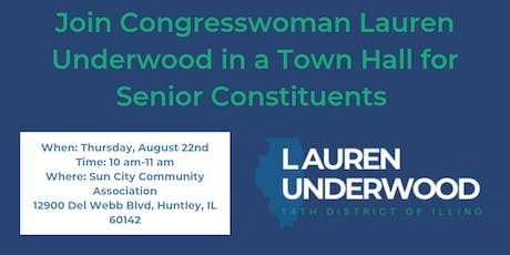 Town Hall for Seniors with Rep. Lauren Underwood tickets