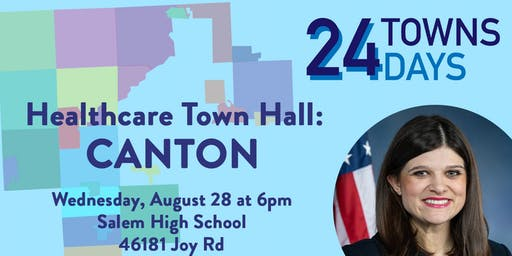 Congresswoman Haley Stevens (MI-11) - Healthcare Town Hall: Canton