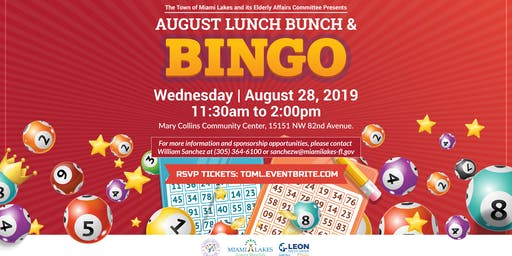 Lunch Bunch and Bingo-August 28th