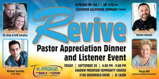 REVIVE: Pastors Appreciation Dinner and Listener Event