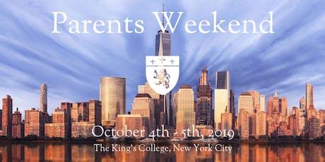 Parents Weekend 2019 tickets