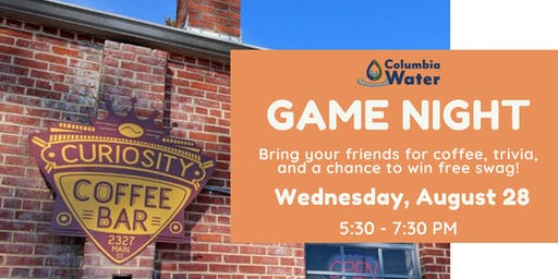 Game Night at Curiosity Coffee Bar