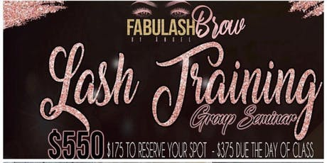 Ohio Cleveland  Fabulashbrow Eyelash Extension class+ Business Branding tickets
