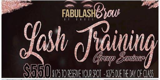 Ohio Cleveland  Fabulashbrow Eyelash Extension class+ Business Branding