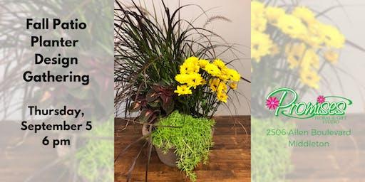 Fall Patio Planter Gathering