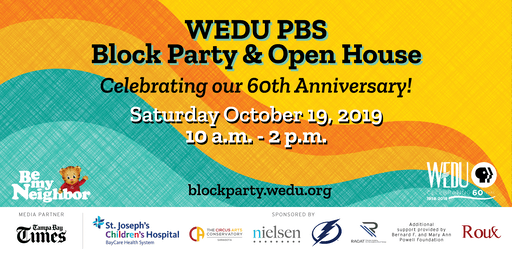 WEDU Block Party & Open House: Celebrate our 60th Anniversary with Daniel Tiger!