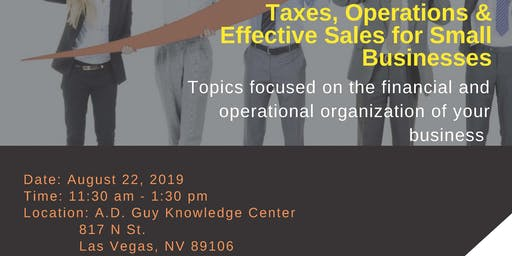 Taxes, Operations & Effective Sales for Small Business