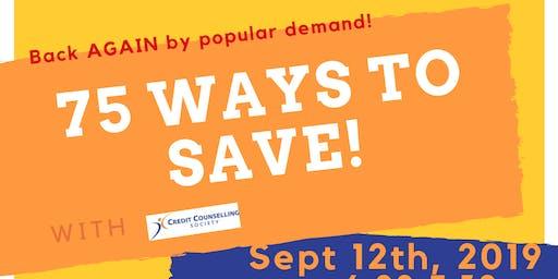 75 Ways to Save