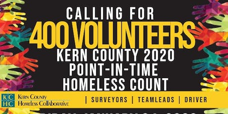 Kern County 2020 Point In Time Homeless Count tickets