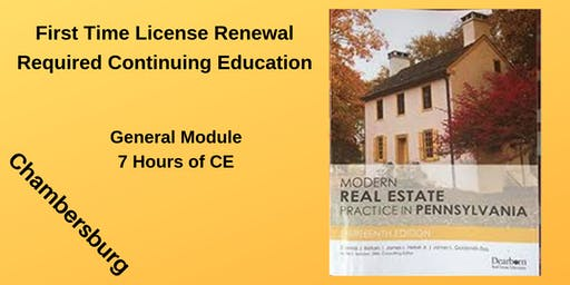 CE - General Module for First Time Renewal