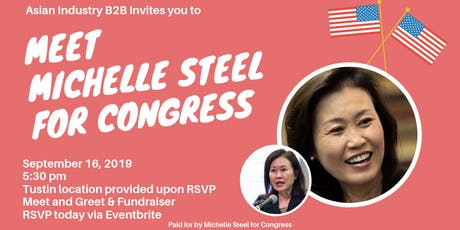 AIB2B Meet & Greet and Fundraiser for Michelle Steel for Congress tickets