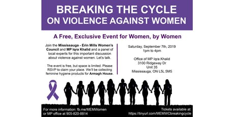 Breaking the Cycle on Violence Against Women tickets