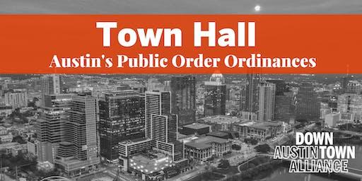 Town Hall on Public Order Ordinances