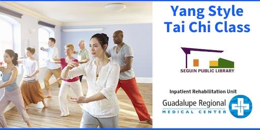 October Community Tai Chi - Yang Style Class