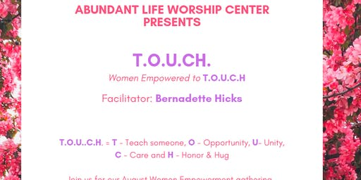 August Women Empowered to T.O.U.C.H.