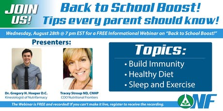 Back to School Boost: Tips Every Parent Needs to Know! tickets