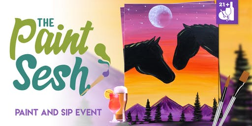 "Paint Night in Norco, CA - ""Spirit Riders"""
