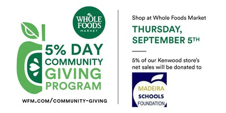 5% Community Giving Day benefiting Madeira Schools Foundation tickets