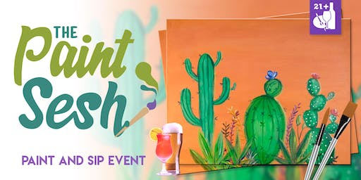 """Paint Night in Norco, CA - """"Cactus Blooms"""""""