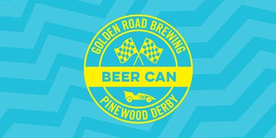 Golden Road Beer Can Pinewood Derby