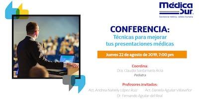 Conferencia: Técnicas para mejorar tus presentaciones médicas
