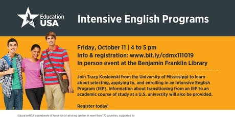Intensive English programs in the U.S. tickets