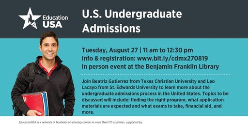 U.S. Undergraduate Admissions with Texas Christian University and St. Edward's University