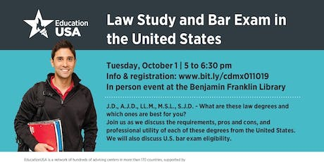 Law Study & Bar Exam in the USA tickets