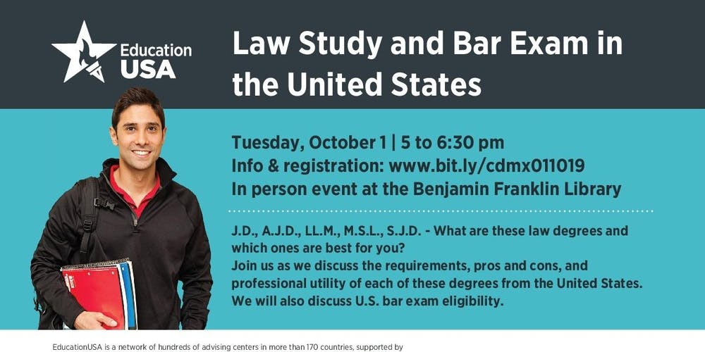 Law Study & Bar Exam in the USA Tickets, Tue, Oct 1, 2019 at