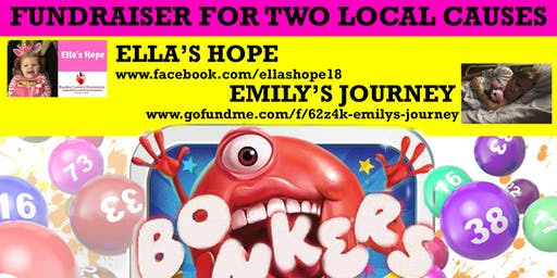 Mr Bonkers Bingo Fundraiser - Ella's Hope - Emily's Journey