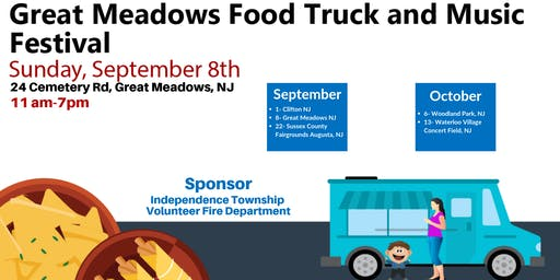 September 8th - Great Meadows Food Truck and Music Festival