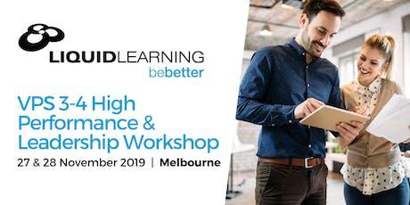 VPS 3-4 High Performance & Leadership Workshop tickets