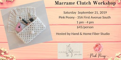 Macrame Clutch Workshop