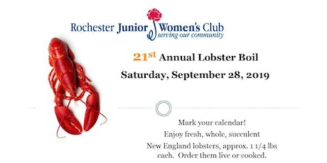 Lobster Boil -  Rochester Junior Women's Club 21st Annual Fundraiser tickets