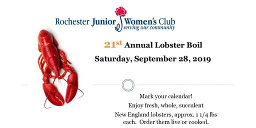 Lobster Boil -  Rochester Junior Women's Club 21st Annual Fundraiser