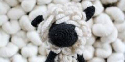 Crochet - Harold the Teeswater Sheep