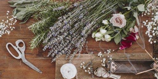 Create a Dried Arrangement & Floral Smudge Stick