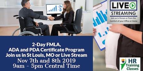 2-Day FMLA, ADA and PDA Certificate Program(Starts 11-7-2019) tickets