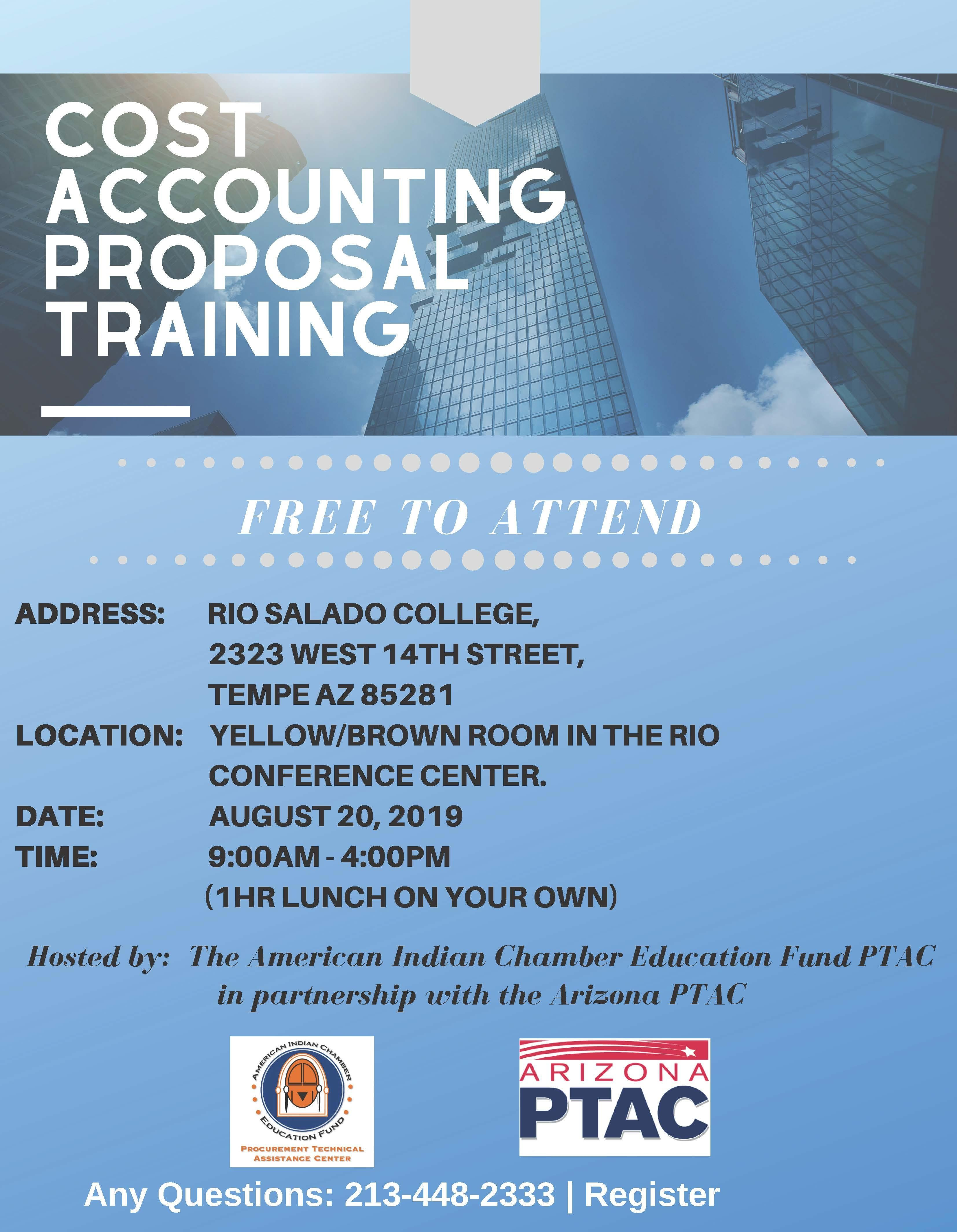 Cost Accounting Proposal Training